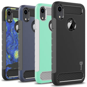 iPhone XR Case - Hybrid Phone Cover with Carbon Fiber Accents - Arc Series