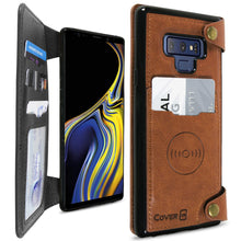 Load image into Gallery viewer, Samsung Galaxy Note 9 Wallet Phone Case, Vegan Leather Phone Cover with Detachable Credit Card Holder, Car Mount Compatible - Scout Series