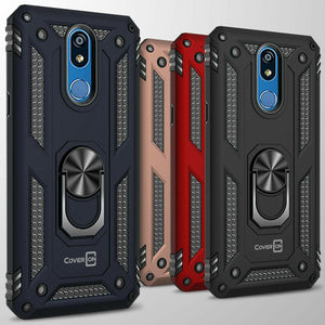 LG K40 / Xpression Plus 2 / Harmony 3 / Solo LTE Case with Metal Ring Kickstand - Resistor Series
