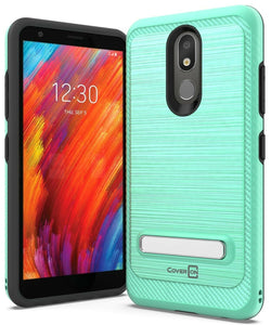 LG Aristo 4 Plus Cases / LG Prime 2 Case - Metal Kickstand Hybrid Phone Cover - SleekStand Series