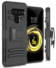 Load image into Gallery viewer, LG V50 ThinQ Holster Case - Hybrid Case with Belt Clip - Explorer Series