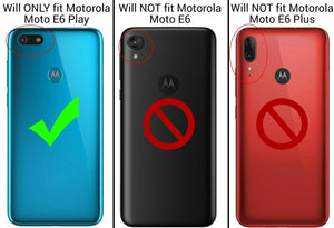 Motorola Moto E6 Play Clear Case Hard Slim Protective Phone Cover - Pure View Series