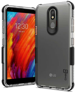 LG Aristo 4 Plus Cases / LG Prime 2 Clear Case - Protective TPU Rubber Phone Cover - Collider Series