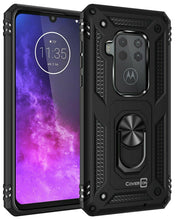Load image into Gallery viewer, Motorola One Zoom Case with Metal Ring Kickstand - Resistor Series