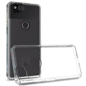 Google Pixel 2 Clear Case Hard Slim Phone Cover - ClearGuard Series