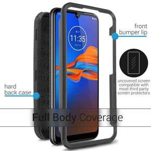 Motorola Moto E6 Plus Case - Heavy Duty Shockproof Phone Cover - Tank Series