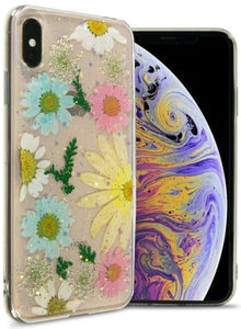 iPhone XS Max Flower Case Handmade Slim Fit TPU Phone Cover - Real Flower TPU Series