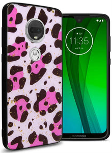 Motorola Moto G7 Plus / Moto G7 / T-Mobile REVVLRY Plus Case Safari Skin Slim Fit TPU Animal Print Phone Cover