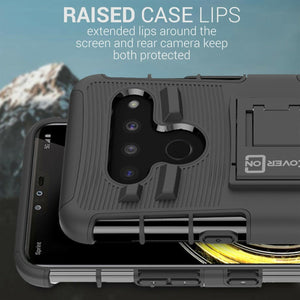 LG V50 ThinQ Holster Case - Hybrid Case with Belt Clip - Explorer Series