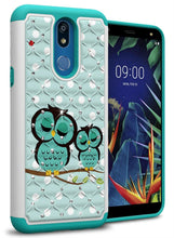 Load image into Gallery viewer, LG K40 / Xpression Plus 2 / Harmony 3 / Solo LTE Case - Rhinestone Bling Hybrid Phone Cover - Aurora Series