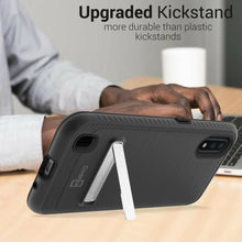 Load image into Gallery viewer, Samsung Galaxy A01 (US Version) Case - Metal Kickstand Hybrid Phone Cover - SleekStand Series