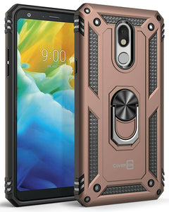 LG Stylo 5 / Stylo 5+ / Stylo 5V / Stylo 5X Case with Metal Ring Kickstand - Resistor Series