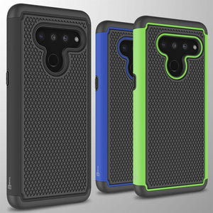 LG V50 ThinQ Case - Heavy Duty Protective Hybrid Phone Cover - HexaGuard Series