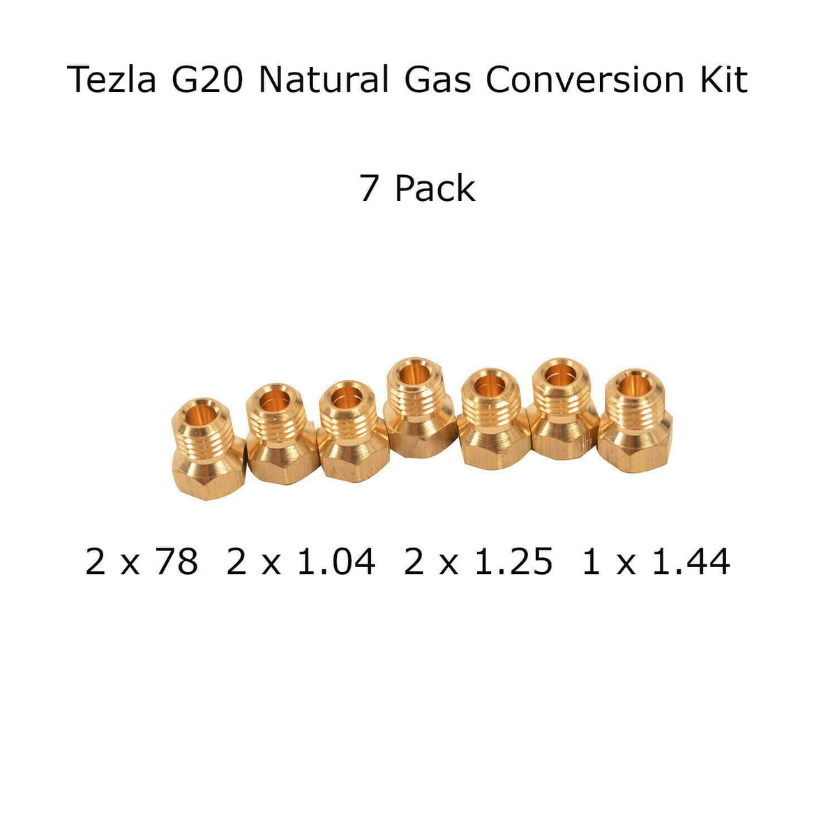 LPG to NG Natural Gas Jet Set 4 Burner Hob Injector Nozzle Conversion Kit