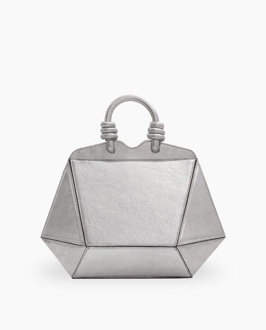 MINI BOLSA DIAMANTE PRATA