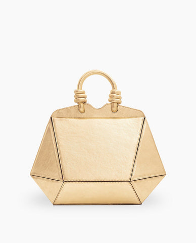 MINI BOLSA DIAMANTE OURO
