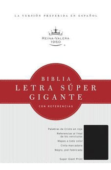 RVR 1960 Super Giant Print Bible - Black Imitation Negra Imitacion