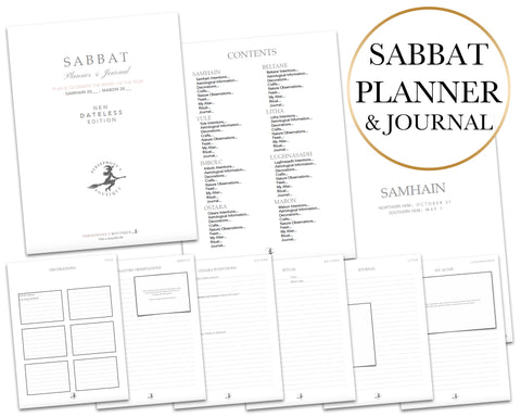 Sabbat Planner & Journal - Dateless!