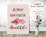Be Beautiful Floral Wall Art - Persephone's Boutique