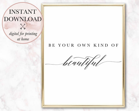Be Beautiful Printable - Persephone's Boutique