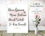 Drive German Wall Art - Persephone's Boutique