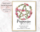 Floral Pentacle Printable - Persephone's Boutique