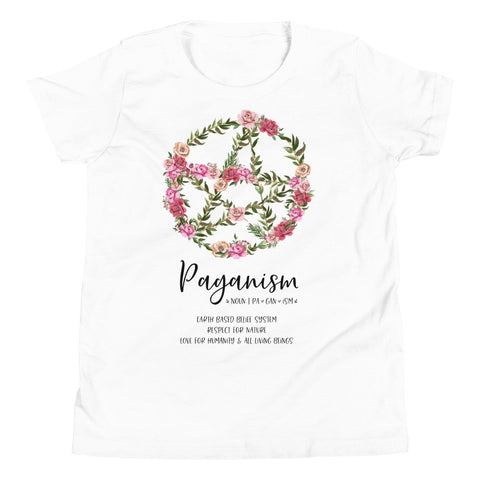 Kids Floral Pentacle Tee - Persephone's Boutique