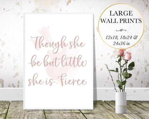 Little But Fierce Wall Art - Persephone's Boutique