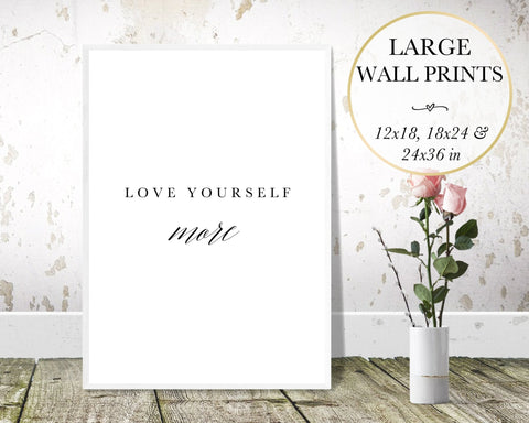 Love Yourself More Wall Art - Persephone's Boutique
