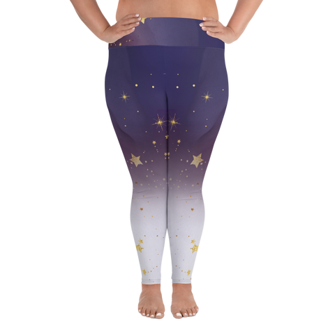 Amethyst Stars Leggings (2XL-6XL) - Persephone's Boutique