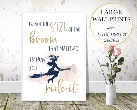 Size of Broom Wall Art - Persephone's Boutique