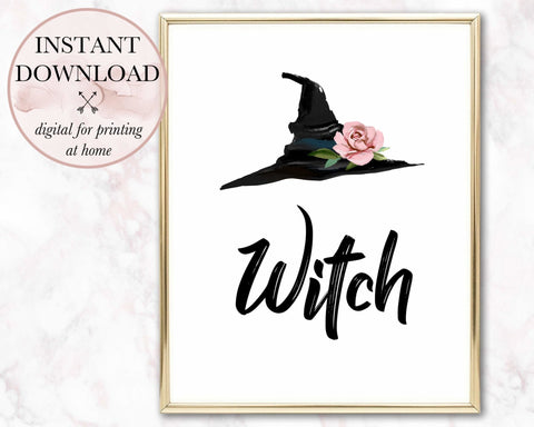 Witch & Hat Printable - Persephone's Boutique