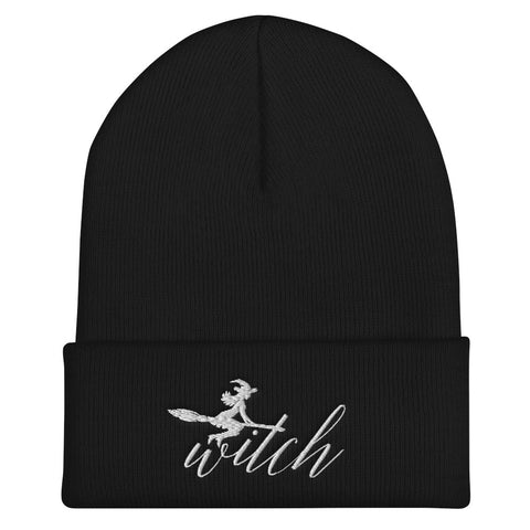Witch on Broom Beanie (4 colours) - Persephone's Boutique