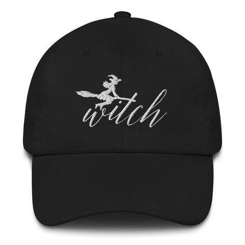 Witch on Broom Hat (2 colours) - Persephone's Boutique