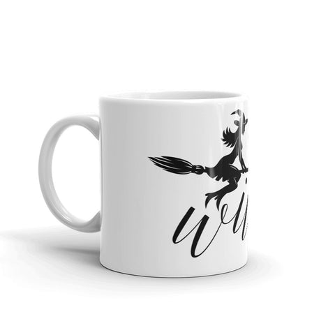 Witch on Broom Mug - Persephone's Boutique
