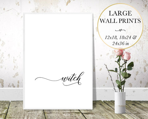 Witch Word Wall Art - Persephone's Boutique