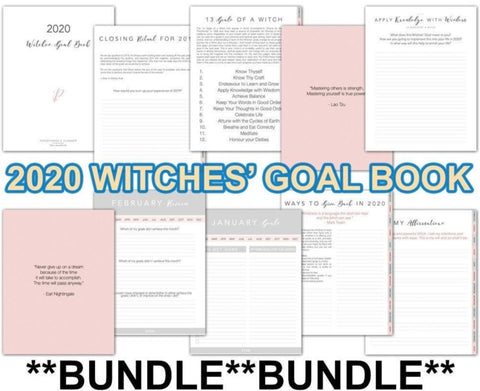 Witches' Goal Book 2020 BUNDLE - Persephone's Boutique