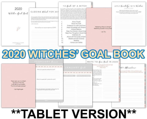 Witches' Goal Book 2020 TABLET VERSION - Persephone's Boutique