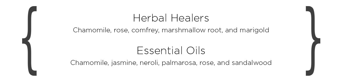 Organic herbs for dry skin type