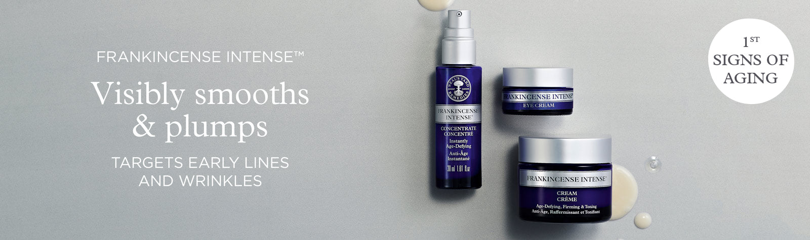 Frankincense Intense Collection - organic anti-aging wrinkle cream