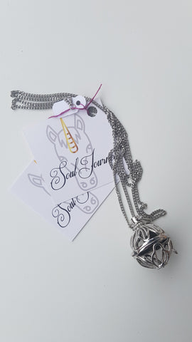 Essential Oils Necklace - Silver