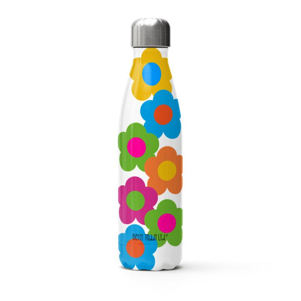 Stainless Steel Thermal Bottle - Vintage Flower