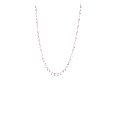 Necklace SIMONE in 18 KT Rose Gold with White Diamonds approx. 2.6 ct.