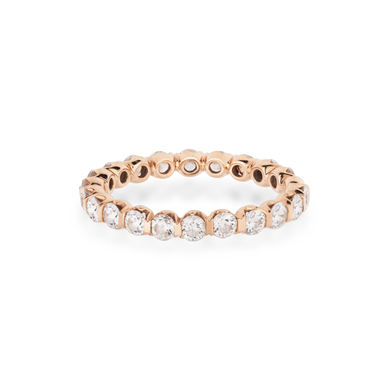 Eternity Ring MAJESTY in 18 KT White Gold with White Diamonds approx. 1.25 ct.