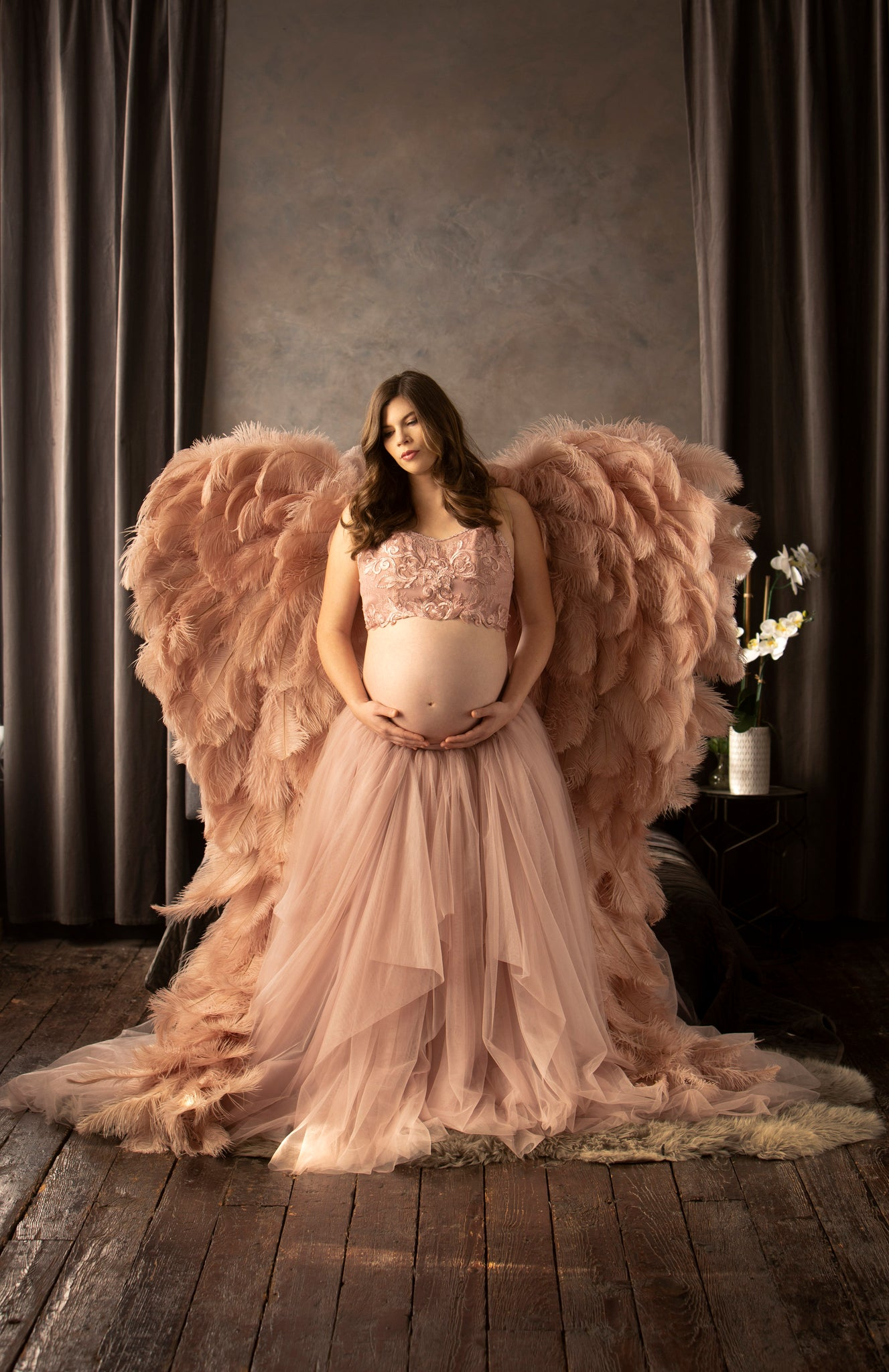 Kyndra Jade Angel Wings Maternity Session