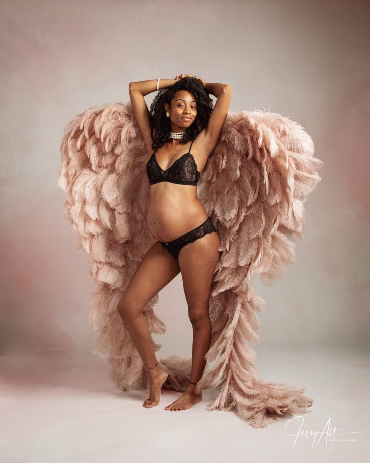 Maternity boudoir Angel Wings