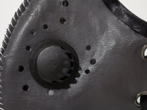 Masking Fashion - Gray Vegan Leather: 100% Activated Carbon