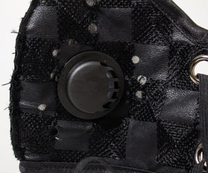Masking Fashion - Black Checkers Design: 100% Activated Carbon Cloth