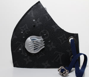 Art Pattern - Black LV Style Mask 100% Carbon Filter
