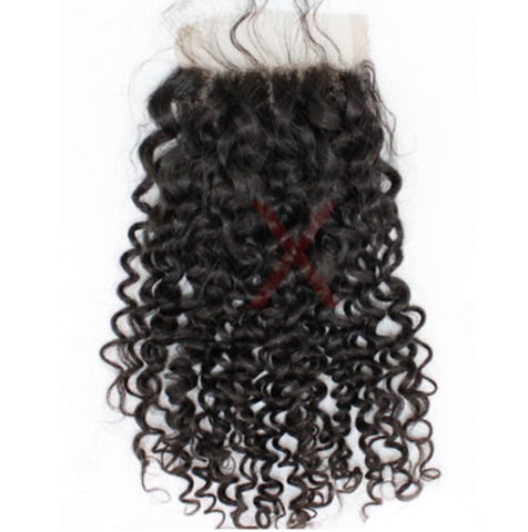 TRANSPARENT CLOSURES (5X5)- INDIAN CURLY